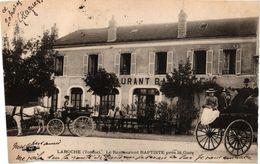 1 CPA DEP. YONNE    Laroche  Restaurant Baptiste Près De La Gare  Anno 1903 - Laroche Saint Cydroine