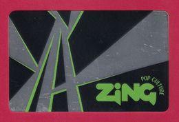Carte Cadeau.  Carte De Fidélité.  ZING Pop Culture Micromania. - Gift Cards