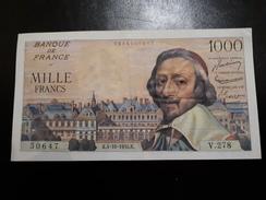 1 000 Fr Richelieu Du 4/10/1956 - 1871-1952 Circulated During XXth