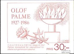 Schweden MH113 (kompl.Ausg.) Postfrisch 1986 Olof Palme - Svezia