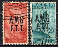 TRIESTE - AMGFTT - 1949 - CINQUANTENARIO DELLA RADIO - USATI - Posta Aerea