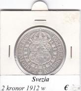 SVEZIA   2  KRONOR  ANNO 1912  COME DA FOTO - Svezia