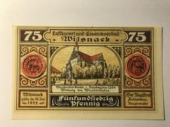Allemagne Notgeld Wilsnack 75 Pfennig - [ 3] 1918-1933 : République De Weimar