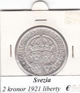 SVEZIA   2  KRONOR  ANNO 1921  COME DA FOTO - Svezia