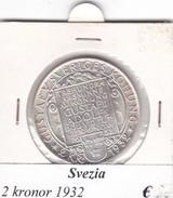 SVEZIA   2  KRONOR  ANNO 1932  COME DA FOTO - Svezia