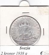 SVEZIA   2  KRONOR  ANNO 1938  COME DA FOTO - Svezia