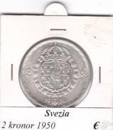 SVEZIA   2  KRONOR  ANNO 1950  COME DA FOTO - Svezia