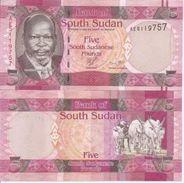 South Sudan P-6  5 P0ounds 2011  UNC - Soudan Du Sud