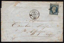 FRANCE - Lettre De Paris Pour Sainte Affrique Du 15 Juillet 1853 Avec Un 25 C. République - Marcophilie (Lettres)