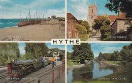 Hythe, Beach, Parish Church, Royal Military Canal, Railway Station (pk40564) - England