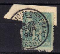 Levant Timbre Français Type Sage N° 75 Oblitération Salonique Quartier Français Turquie 23 FEVR 1899 - Storia Postale (Francobolli Sciolti)