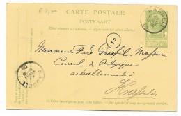 CARTE POSTALE HASSELT 5 CENT. 1905 VIAGGIATA FP - Hasselt