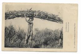 CAMEROUN PORTEUSE DE BOIS - EDIT. MISSIONS EVANGELIQUES ARAGO PARIS 1927  VIAGGIATA FP - Camerun