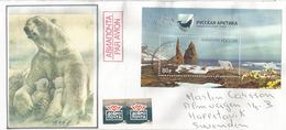 Ours Polaire Du Parc National De L'Arctique Russe.Nouvelle-Zemble Et Terre François-Joseph.,sur Lettre Adressée Suède - Bären
