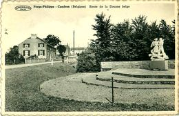 Cpsm BELGIQUE - FORGE PHILIPPE  CENDRON - Route De La Douane Belge - Monument Américains - Momignies