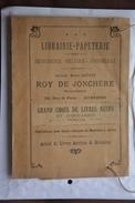 Protege Livre??librairie-papeterie Roy De Jonchere-32 Rue De Paris A AUXERRE-voir Scans - Printing & Stationeries