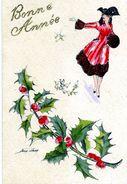 Illustrateur - SAGER: Bonne Année: Houx: Mignonette - Sager, Xavier