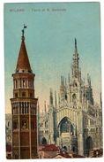 MILANO - TORRE DI S.GOTTARDO - VG 1917  FP - C219 - Milano