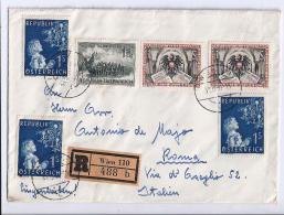 MG33) AUSTRIA 1955 -Raccomandata Viaggiata Su Roma - 1945-.... 2ª República