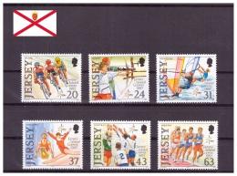 Jersey 1997 - MNH ** - Cyclisme - Tir à L'arc - Windsurf - Gymnastique - Volley-ball - Athlétisme - Michel Nr. 787-792 S - Jersey
