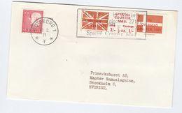 1971 COVER SWEDEN Stamps GB POSTAL STRIKE COURIER MAiL LABEL Great Britain - Sweden