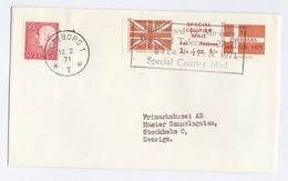 1971 COVER SWEDEN Stamps GB POSTAL STRIKE COURIER MAiL LABEL Great Britain - Cinderellas