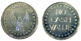 00544 GETTONE TOKEN JETON GAMING SLOT MACHINE EAGLE NO CASH VALUE - USA