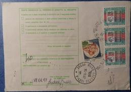 VIGNATE 1997 10 Gennaio BOLLETTINO PACCHI POSTALI - ALTI VALORI 3000 LIRE + 350 LIRE CASTELLI - VEDI FOTO - 6. 1946-.. Repubblica