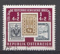 Autriche 1975  Mi.Nr: 1504  125Jahre Österreichische Briefmarke  Oblitèré / Used / Gebruikt - 1945-.... 2ème République