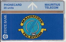 MAURITIUS(L&G) - State Bank, Telecom Logo, First Issue 20 Units, CN : 212K, Tirage 5000, Mint - Mauritius