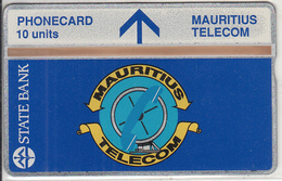 MAURITIUS(L&G) - State Bank, Telecom Logo 10 Units, CN : 308A, Tirage 5000, Mint - Maurice