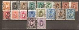 Egipto - Egypt. Nº Yvert  118-28 (usado) (o) (incluye 121a, 122a, 123a) - Usados