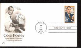 1991 COLE PORTER - Ersttagsbelege (FDC)