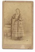 FOTO D'EPOCA  SIGNORA  PRIMO PIANO STUDIO GIACOMO BROGI FIRENZE CM.12,5X8 - Old (before 1900)