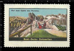 German Poster Stamp, Reklamemarke, Cinderellas, Italy, Dolomiten, Dolomites, Gebirge, Mountain Range, Berg, - Cinderellas