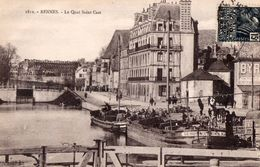 CPA Batellerie - 35 - RENNES - Le Quai Saint Cast - Rennes