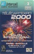 CARTE-PREPAYEE-INTERCALL-2Mn-TELECARTEXPO 2000-SALON INTERNATIONAL-CARTES TELEPHONE-1300Ex-30/10/2000-TBE-LUXE - Autres Prépayées
