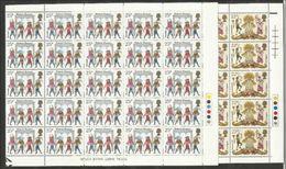 1981 Gran Bretagna Great Britain FOLCLORE  BRITISH FOLKLORE 25 Serie Di 2v. (974/75) MNH** In Blocco - Costumi