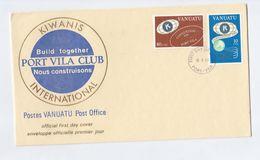 1980 VANUATU FDC Stamps KIWANIS Cover - Vanuatu (1980-...)