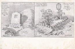 AK La Boiselle - Gräber - Friedhof - Hägele - Res. Inf. Rgt. 120 - Kanonier Fingerle - 1. WK (31669) - Albert