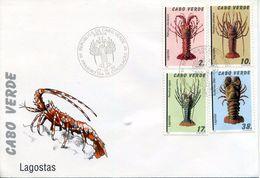 1993 Cape Verde. FDC Lobster, Langosta, Crustacean, Crustaceos - Poissons