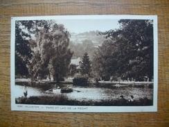 """Munster , Parc Et Lac De La Fecht """""""" Carte Avec Une Belle Animation Barque Et Baigneurs """" - Munster"""