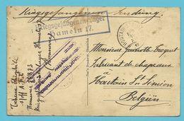 Kriegsgefangenensendung Verzonden Van HAMELN Met Als Aankomst Sterstempel (Relais) * HOUTAIN-ST-SIMEON * Op 16/12/1917 ! - WW I
