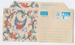 1991 GB Illus CHRISTMAS AEROGRAMME  Postal Stationery Stamps Cover - Christmas