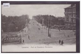 LAUSANNE - CHAUDERON - TRAMWAY - B ( MINI PLI D'ANGLE ) - VD Vaud