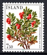 ICELAND 1984 Flowers (7th Issue)/Bearberry ISK7.50: Single Stamp UM/MNH - Unused Stamps
