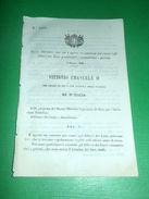 Regno D'Italia Regio Decreto Esami Allievi Licei Governativi E Privati 1866 - Vecchi Documenti