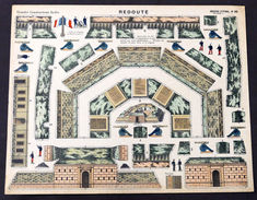 Gioco Costruzione - Imagerie D'Epinal N° 28 - Redoute - 1900 Ca. - Giocattoli Antichi