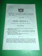 Regno D'Italia Regio Decreto Concorso Posti Sottotenenti Artiglieria Genio 1866 - Vecchi Documenti