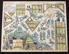 Gioco Costruzione - Imagerie D'Epinal - Serie De Guerre N° 13 - 1900 Ca. - Giocattoli Antichi